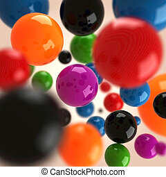 3d colorfull balls