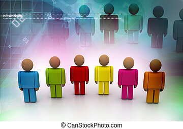 3d colour people