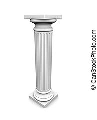 3d column - 3d rendered illustration of a white column