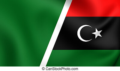 Combined Flag of Libya