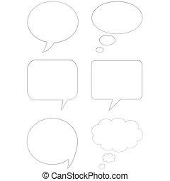 3D comic speech bubbles