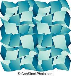 3d composition of cubes vector