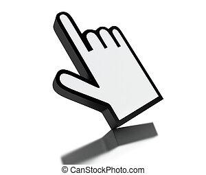 3d Computer mouse hand cursor