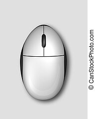 3D computer mouse isolated on grey