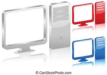 3D computer symbol