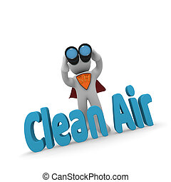 3d concept Clean Air - Search concept super hero with ...