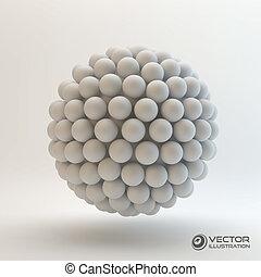 3D concept illustration. Vector template.
