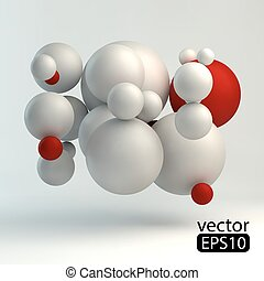 3D concept illustration. Vector template.3