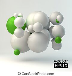 3D concept illustration. Vector template.4