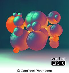 3D concept illustration. Vector template.5.eps