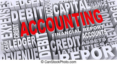 3d concept of accounting word tags