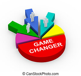 3d concept of business alliance game changer