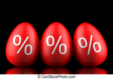 3d concept of Easter final sales