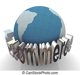 3d concept of ecommerce