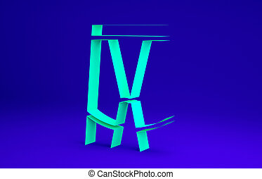 3d, concept., short, icône, bleu vert, minimalisme, cyclisme, illustration, render, arrière-plan., isolé