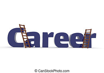 3d concept with the word Career