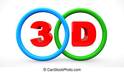 3d concept words on the rings