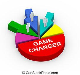 3d, concepto, de, empresa / negocio, alianza, juego, cambiador