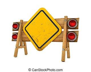 3d, concetto, segnale stradale