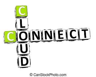 3D Connect Cloud Crossword cube words