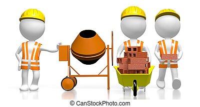 3D construction site concept