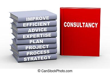 3d consultancy concept books - 3d illustration of books...