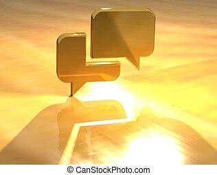 3D Contact Gold Sign