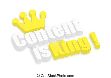 3d Content is King Text