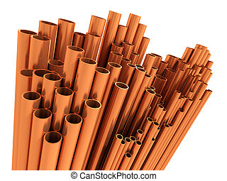 3d Copper pipes