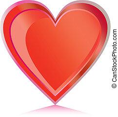 3d, coração
