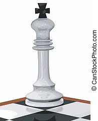 3D cornered chess white king