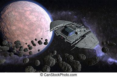 3d cosmic scene