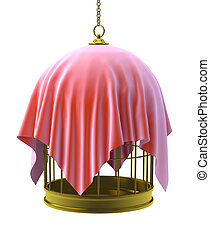 3d Covered bird cage