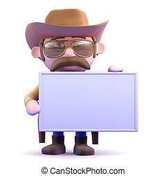 3d Cowboy banner