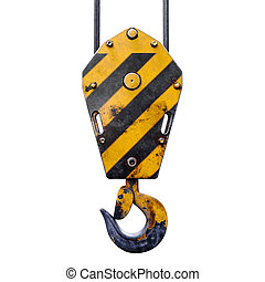 3d crane hook on white background