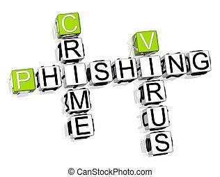 Crime Phishing Crossword - 3D Crime Phishing Crossword on...