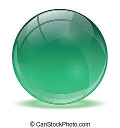 3d, cristallo, sfera