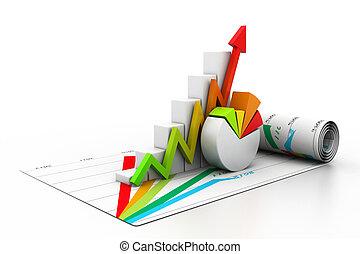 3d, croissance affaires, graphique