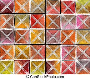3d cross abstract graffiti spray tag backdrop in multiple color