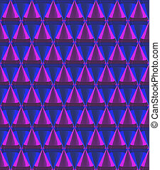 3d crystal cone pattern
