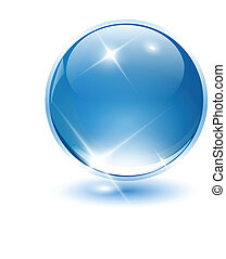 3D crystal sphere, ball. Vector illustration.