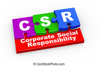 3d csr puzzle pieces illustration