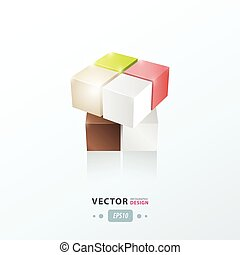 3D Cube abstract design