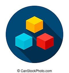 3D Cube Circle Icon