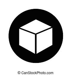 3d cube icon illustration design