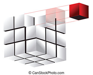 3d cube illustration design