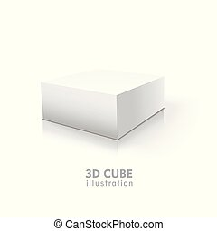 3D cube isolated on white background
