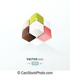 3D Cube. Vector illustration for your design.