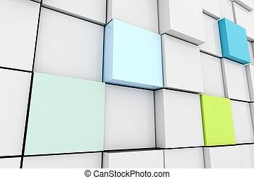 3d cube wall