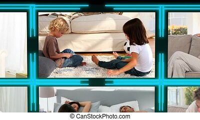 3d cube with videos about children